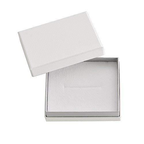 だいし屋 日本製【選べる3色】ジュエリーギフトボックス M 印籠型 スポンジ付 90×72×30mm (ホワイト, 1個) B081