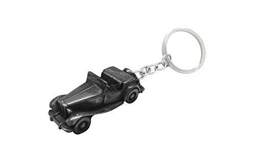 Oldtimer Zinn-Effekt MG TD ref137 Auto Schlüsselanhänger Classic Car Zinn Effekt