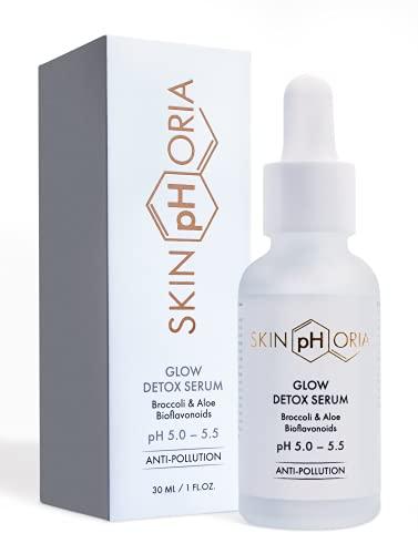 Skinphoria Glow Detox Serum - Soin hydratant naturel pour le visage et sérum éclaircissant pour le visage