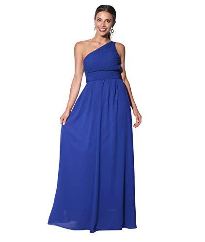 KRISP Vestido Mujer Fiesta Largo Talla Grande Hombro Descubierto Invitada Boda Dama, Azul (4814), 44 EU (16 UK), 4814-ROY-16