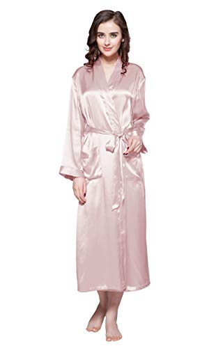 LilySilk Long Silk Robes for Women Luxury Sexy Kimono 22 Momme Classic...