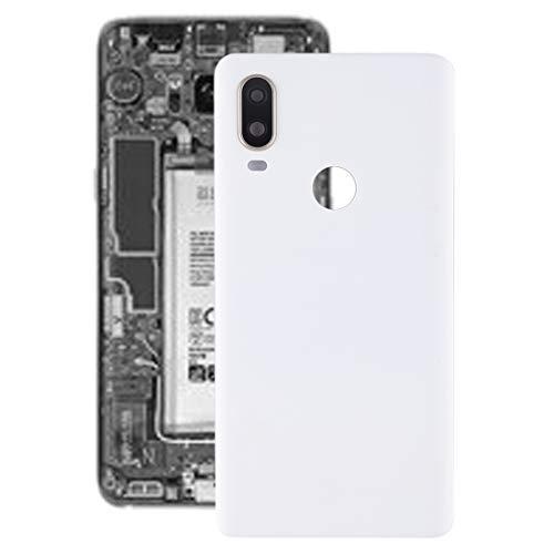 Dongdexiu Piezas de Repuesto del teléfono Celular Tapa Trasera de batería con Lente de cámara for BQ Aquaris X2 Accesorio de Repuesto de teléfono (Color : Blanco)
