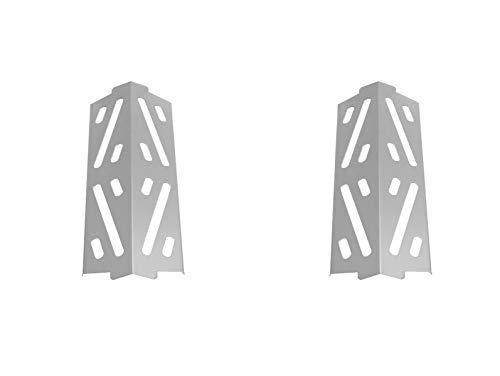 AJinTeby 66684 Stainless Steel Porcelain Enameled Flavorizer Bars Heat Plates Heat Deflector for Weber Genesis II LX, E/S-240 Grills, 2 Pack