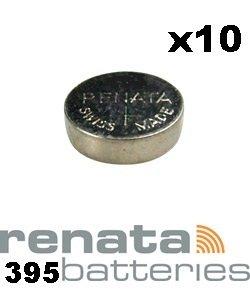 Renata 395 SR927SW Lot de 10 piles pour montre Fabriqué en Suisse 1,55 V