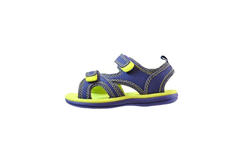 Khombu Kids Athletic Summer Sandal, Blue Lime, 11