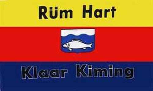 Flagge Fahne ca. 90x150 cm : Rüm Hart Klaar Kimming Sylt