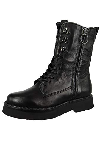 Mjus Triple Zip Stiefelletten/Boots Damen Schwarz - 39 - Boots Shoes