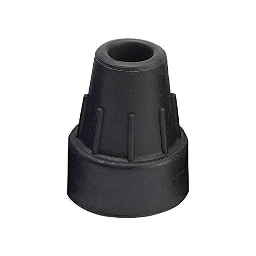 Krugcapsule zwart 16 mm (ossenberg), accessoires voor wandelstokken en onderarmleuningen