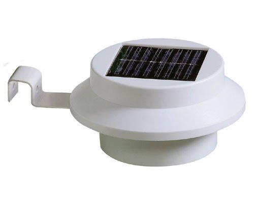 Tooltime - Set di luci a 3 LED ad elevata luminosità e alimentazione solare, 4 pezzi, per marciapiedi e recinzioni, colore: Bianco