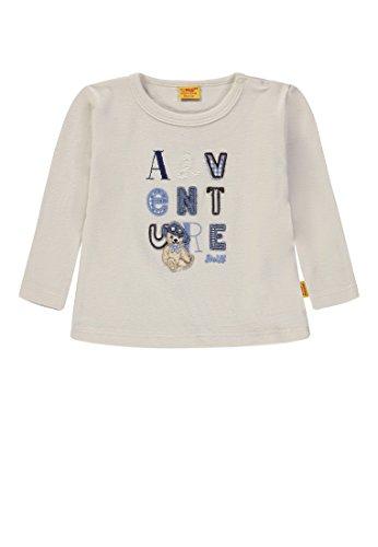 Steiff Steiff Baby-Jungen T-Shirt 1/1 Arm Langarmshirt, Grau (White Sand|Gray 1029), 74
