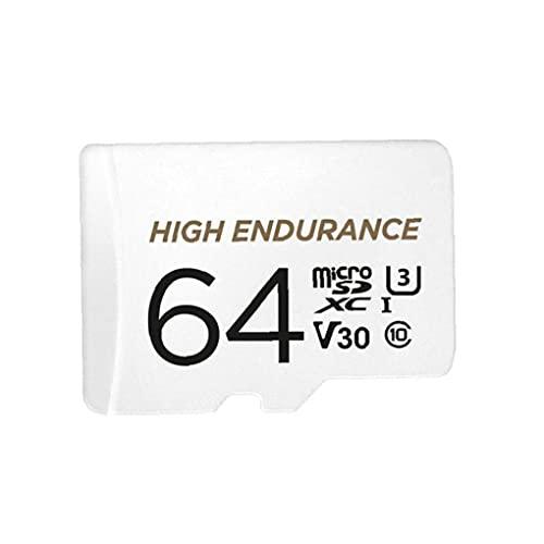 MaylFre Tarjeta de Memoria de Alta Resistencia TF de Alta Velocidad TF Flash Micro Micro SD 64GB con Adaptador SD Herramienta de Vida práctica portátil Blanca