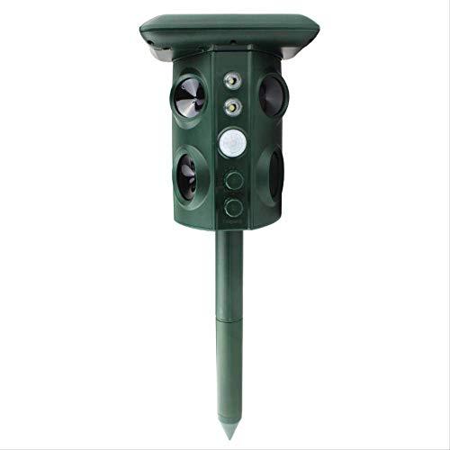 Repelente de aves inteligente solar repelente de aves ultrasónico balcón huerto para evitar que los pájaros repelan ratones, serpientes, perros, gatos y mosquitos.