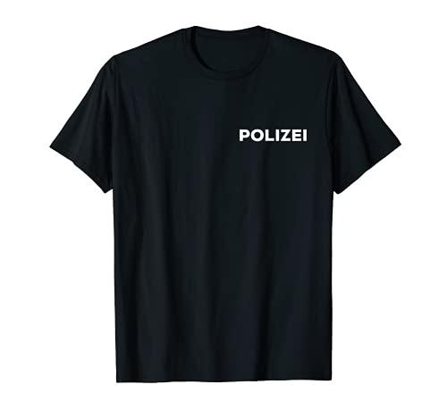 Polizei Uniform Fasching Karneval Kostüm Verkleidung Outfit T-Shirt
