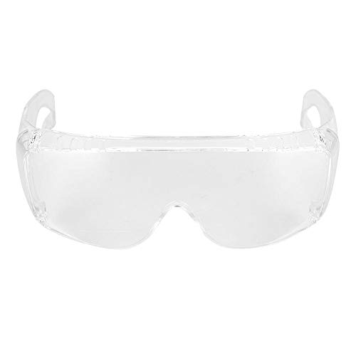 T best Protective Goggles, Anti-Scratch Anti-Fog Dustproof Safety Glasses Eye Protection, UV-Resistant One-Piece Clear Mirror Lens for Laboratory Workplace Chemical Cycling Outdoor/Indoor