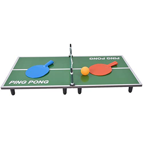 Akozon Mini Tafeltennisspel Indoor Vouwen Ping Pong Bureau Ouder-kind Entertainment Spelen