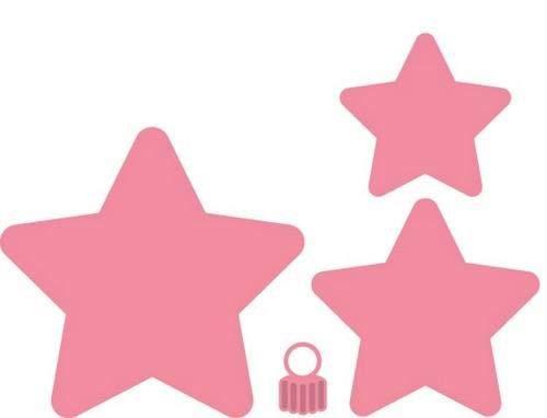 Marianne Design Fustella Collectables Stella di Natale, Metal, Pink, 10.9 x 10.4 x 0.4 cm