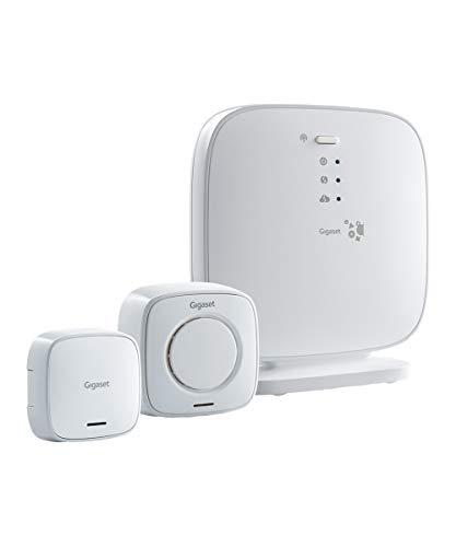 Gigaset Elements Alarm-System - Sicherheitspaket mit Türsensor, Sirene und Basistation für Smart-Home Einsteiger, weiß