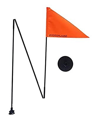 Stikit - Peel & Stik Safety Flags for Kayaks Paddleboards Inflatables Pontoons Boats SUP Rafts Canoes Dinghies Watercraft Electric Cars Scooters (Safety Orange, 6')