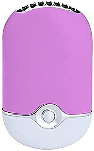 Aire Acondicionado Portátil Acondicionador de aire Mini Ventilador USB Batería de litio incorporada Aire acondicionado Viaje Recargable Ventilador Purificador de aire Humidificador F015, Lightpink Por