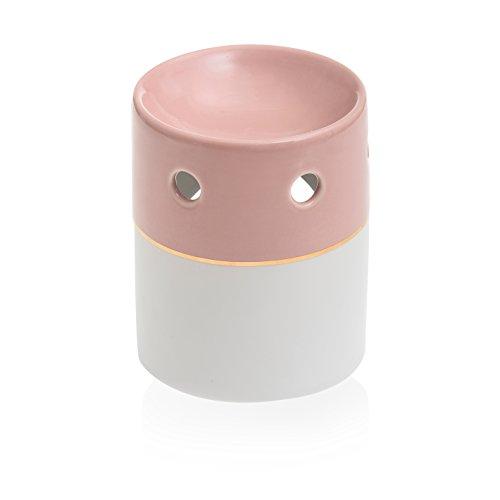 YANKEE CANDLE Duftlampe, Keramik, Weiß/rosa, 10 x 10 x 13 cm
