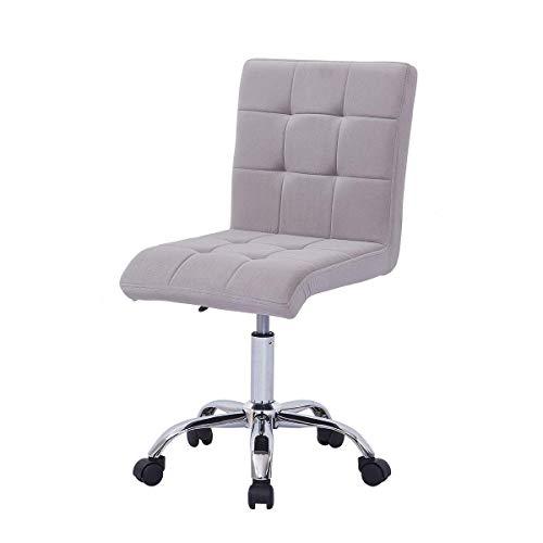 Silla de oficina para el hogar silla de escritorio de terciopelo ajustable 360° silla de ordenador giratoria gris