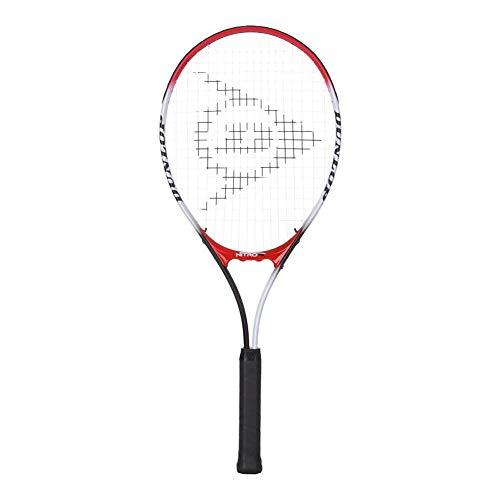 "Dunlop Sports Nitro Junior Tennis Racket, 25"", White/Red/Black"