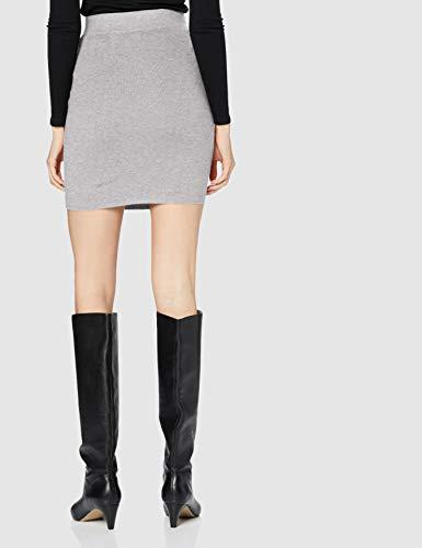 Vero Moda VMSANNA NW Knit Skirt GA Color Falda, Gris Claro, M para Mujer