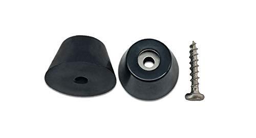 Bietec Gummifüße (8 Stück) mit 8 Schrauben für Möbel, Racks, Koffer, Türstopper, Flightcases, schraubbar, schwarz