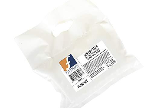 Forbury Direct 2kg (1kg + 1kg) Base Savon Transparent Sin SLS, Super Clear Soap Base