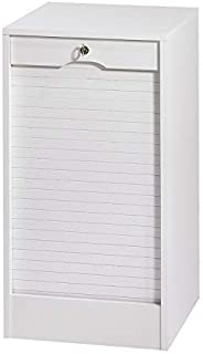 SIMMOB MATHA Classeur à Rideau Hauteur 76 cm Largeur 41 cm - Coloris - Blanc, Bois, 44x41,4x76,4 cm