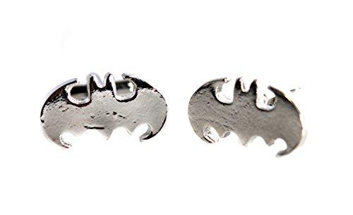 Acero inoxidable Batman hombres gemelos Joyas manguito