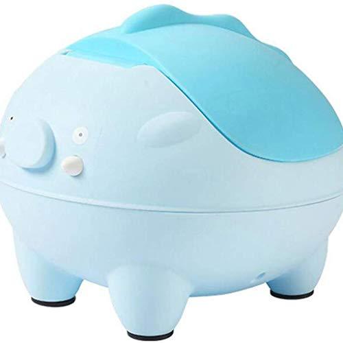 ZXCSJ WC bébé -Wildkin Whale Potty Training, Caractéristiques Retour Repos, Garde Splash, Amovible Potty Bowl, Design dérapantes, Parfait for Potty (Color : Blue)