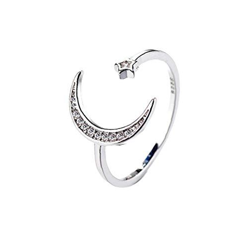 Set de anillo CELESTA 925 plata rodio plateado zirconia cúbico pulido Pavé Solitaire