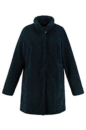 Ulla Popken Damen große Größen Mantel tannengrün 50+ 750516 77-50+