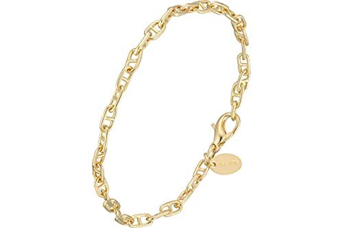 Canyon Bijoux - Pulsera de eslabones de plata 925, dorada en oro, 5,2 g