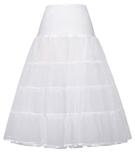 GRACE KARIN Underskirt Women Rockabilly Petticoat Reifrock für brautkleid Unterrock XL CL638-2