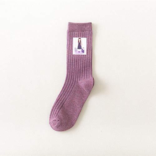 Sokken bont, 3 paar paars lente en zomer, katoen, ademend, comfortabele sokken, vrije tijd, wilde tube, eenvoudig patroon, sport, mannen en vrouwen, paar trendy katoenen sokken, gepersonaliseerde kleding