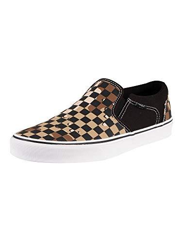 Vans Herren Asher Sneaker, Mehrfarbig ((Camo Check) Black/White W4R), 43 EU