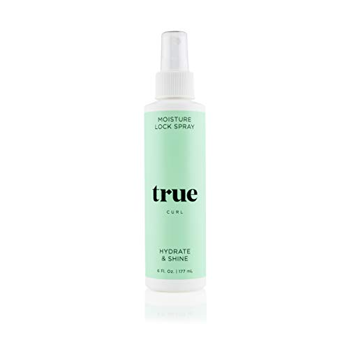 True Curl Moisture Lock Spray. Hydrate and Refresh for Soft, Shiny Bouncy Curls. No Silicones, No Sulfates and No Parabens, 6 Fl Oz.