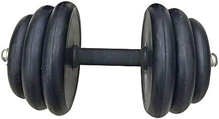 Exercise Rubber Dumbbell 5 Kg, 2 Pieces - Black [EM-9220-10]