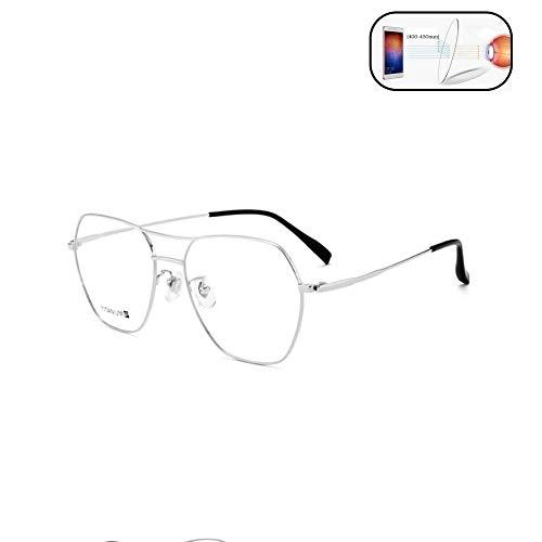 XYSQWZ Gafas De Lectura De Titanio Puro Anti-luz Azul Montur