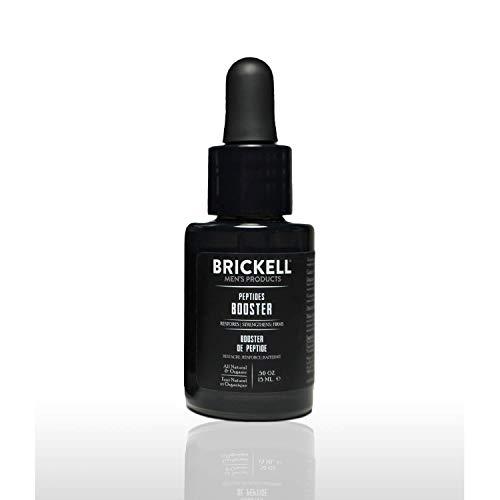 Brickell Men's Protein Peptide Booster Serum pour hommes, naturel et biologique - raffermit et restaure la peau, stimule la production de collagène et lutte contre