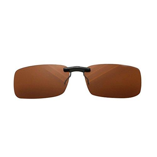 NoyoKere Clip Unisex polarizado en Gafas de Sol con Lentes de visión...