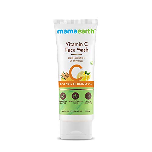 Mamaearth Vitamin C Face Wash with Vitamin C and Turmeric for Skin Illumination - 100ml
