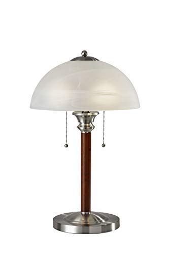 Walnut Metal Table Lamp - 1