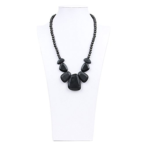 Learn More About Bumkins Nixi Rocca Silicone Teething Necklace, Onyx