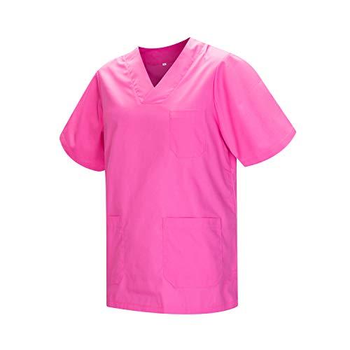 MISEMIYA - Casaca Unisex MÉDICO Enfermera Uniforme Limpieza Laboral ESTÉTICA Dentista Veterinaria Sanitario HOSTELER�A - Ref.817 - L, Rosa