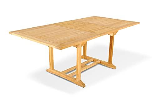 SAM Gartentisch Kuba, Ausziehtisch aus Teak-Holz, massiver Holztisch bis 240 cm Länge für Balkon, Terrasse oder Garten