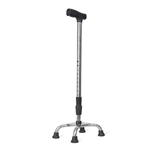 ZCXBHD Bastones De Cuatro Patas Ajustables Discapacitados Ancianos Ligeros Antideslizantes Bastones para Caminatas Caminatas Resistentes Al Desgaste Muletas Rehabilitación Andadores