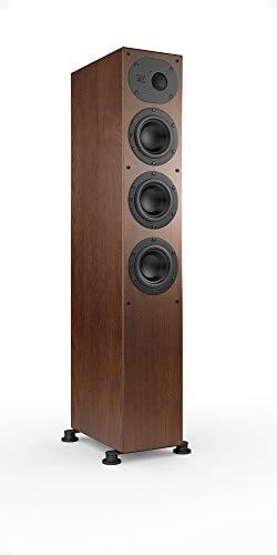 Nubert nuLine 244 Standlautsprecher | Lautsprecher für Stereo | Heimkino & HiFi Qualität auf hohem Niveau | passive Standbox mit 2.5 Wege Technik Made in Germany | Kompakte Standbox Nussbaum | 1 Stück